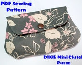 Instant Download PDF Pattern - DIXIE Mini Clutch Purse PDF Sewing Pattern - A4-size Paper Format