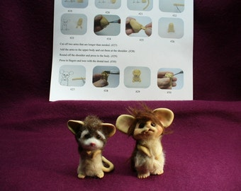 PDF tutorial Make a MOUSE pattern instruction polymer clay sculpt how to book zine