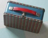 1960s Child's Scotch Plaid Lunchbox Made by the American Thermos Bottle Company