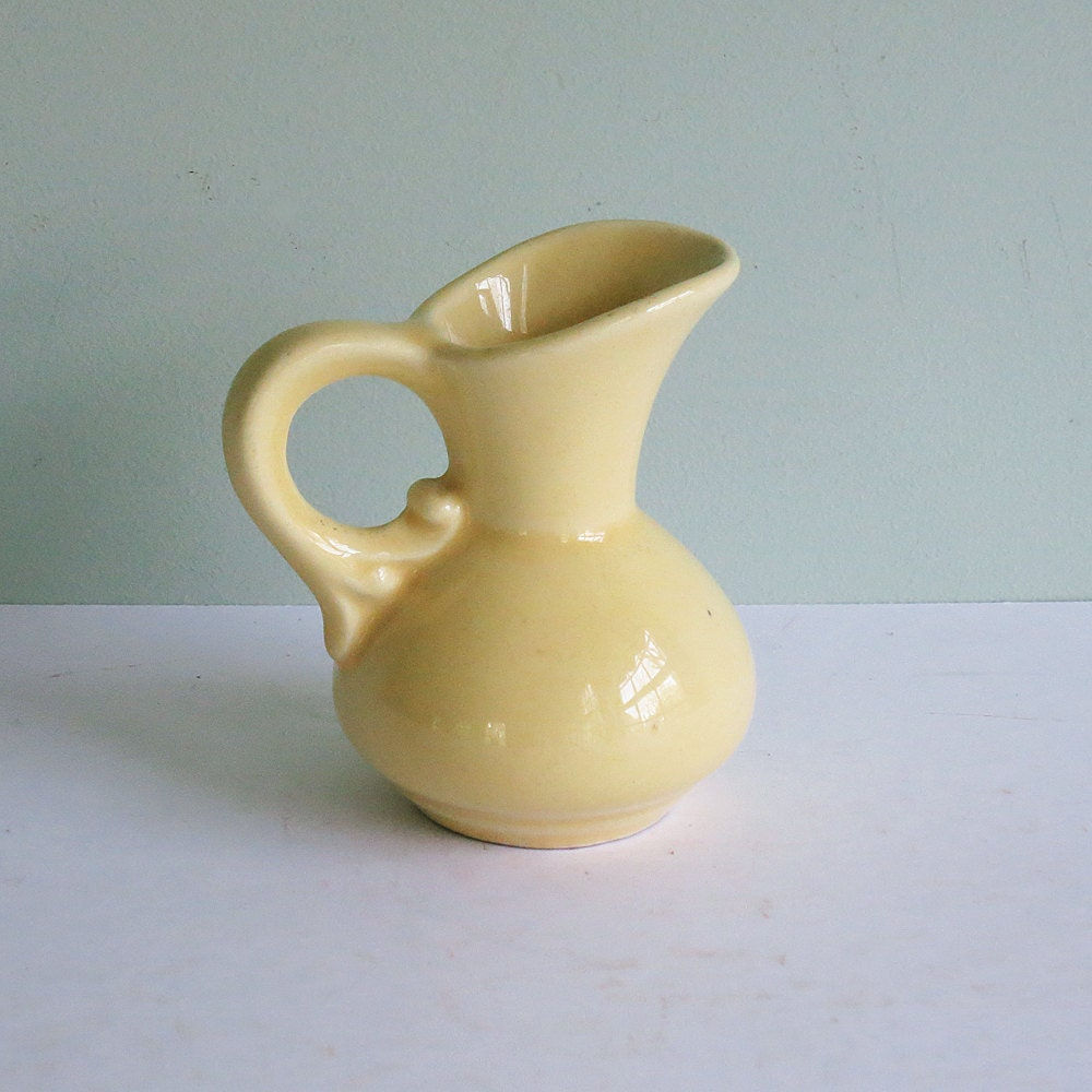 Vintage Shawnee Pottery Miniature Pitcher Vase With A By
