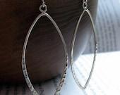 Brisbane Earrings . Hammered Sterling Silver Hoops