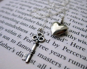 He Who Holds the Key . Sterling Silver Lariat Necklace