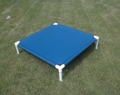 Clearance Sale Dog Bed, Medium Blue Marine Canvas,  Pet Bed 36x36x8 High.