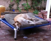 Outdoor Dog Bed, Dog Cot, Raised Bed, PVC Dog Beds, Choose From 4 Sizes, 13 CANVAS Colors, Medium To Large Dogs Up To 130 Pounds.