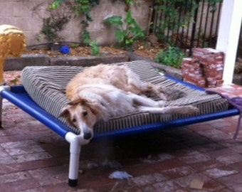 Outdoor Dog Bed, Dog Cot, Raised Bed, PVC Dog Beds, Choose From 4 Sizes, 8 Mesh Colors, 14 CANVAS Colors, Dogs Up To 130 Pounds.