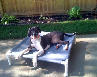 Large Dog Bed, Big Beds Dog Cot Bed Raised Indoors Bed Outdoor Bed 13 Canvas Colors 44x44x10 Medium To Large Dogs Up To 130 Pounds.