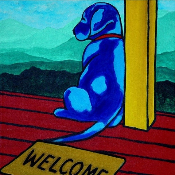 8 x 10-WELCOME BLUE- Print