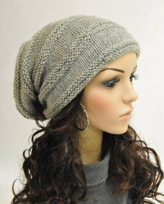 Super Cool - Chunky Light Grey Wool Hat - ready to ship