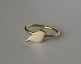 Brass Bird Ring, Gold Bird Ring, Gold Color Ring, Bird RIng, Bird Jewelry, Bird Silhouette, Silhouette RIng, Modern Ring, Modern Jewelry