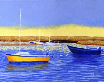 """Cape Cod Boat Meadow Beach Eastham 8x10"""" Matted Print"""