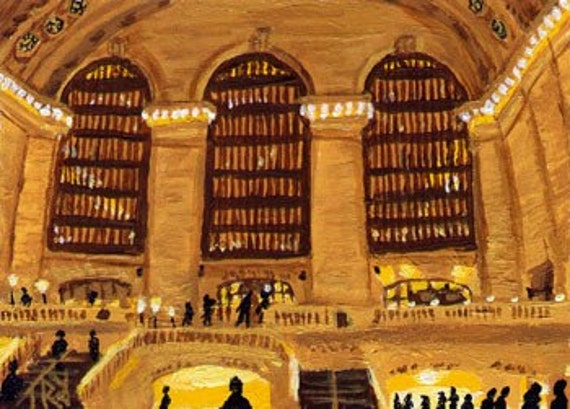 ACEO Print of Grand Central, New York City Painting