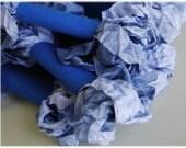 Crinkled Ribbon- Slate blue