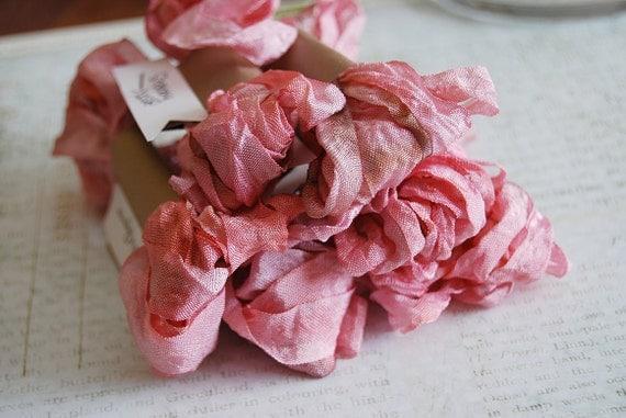 Crinkled Ribbon-Shabby Rose