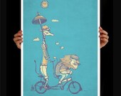 A Bicycle Built for Love Print