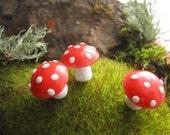 Medium Spun Cotton Mushrooms - One Dozen
