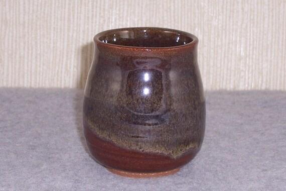 Ceramic Cup Handle less Mug Stemless Wine Glass Tea bowl Yunomi  in  Blue Green  Red  Stoneware Ceramics   Pottery