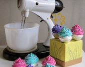Fake Cupcake Retro Rockabilly Collection Set 8 Mini Cupcakes Photo Props Can Be Made Into Ornaments