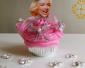 Fake Cupcake Diamonds Are A Girls Best Friend Marilyn Monroe Insp. Cupcake 12 Legs Classic Movie Cupcake Collection Original 12 Legs Concept