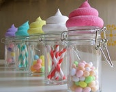Fake Cupcake Candy Shoppe Baker Swirl Collection Glass Jars Choice 3 Original 12 Legs Concept Cool Wedding/Birthday Favors/Stocking Stuffers
