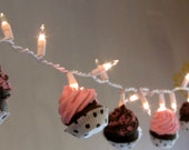 Fake Cupcake String of Lights Lucy Collection 12 Legs Original Concept Design 10 Mini Assorted Cupcakes Perfect for Bakeries First on Etsy