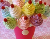 "Fake Cupcake Lollipops ""Sweet and Whimsy Collection"" 20 Mini Assorted Cupcake Lollipops Party Decor/Favor/Gifts 12 Legs Original"