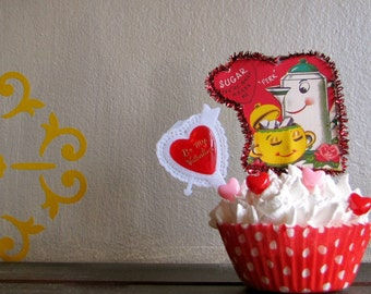 Fake Cupcake Vintage Valentine Image Fake Cupcake Standard Perfect Gift for your Sweetheart, Friends, Family, Teachers