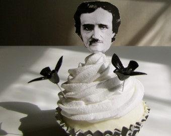 Edgar Allen Poe Raven Fake Faux Cupcake 12 Legs Original Design and Concept