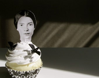 Emily Dickinson Fake Cupcake Literary Writers & Poet Collection Available Ralph W. Emerson, Margaret Fuller, Henry D. Thoreau, Edgar A. Poe