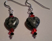 Snowflake Obsidian Hearts