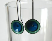 turquoise and blue mod earrings