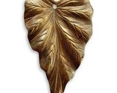 Vintaj Brass Leaf Pendant