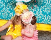 Love Joys Tea Room---Pink Lacy headband for photo shoots, circus, pageants,and babies
