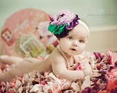 PURPLE-RAZZI  Hairpiece for infants teens,  women, special occasions and photo shoots  weddings, bridesmaids flower girl