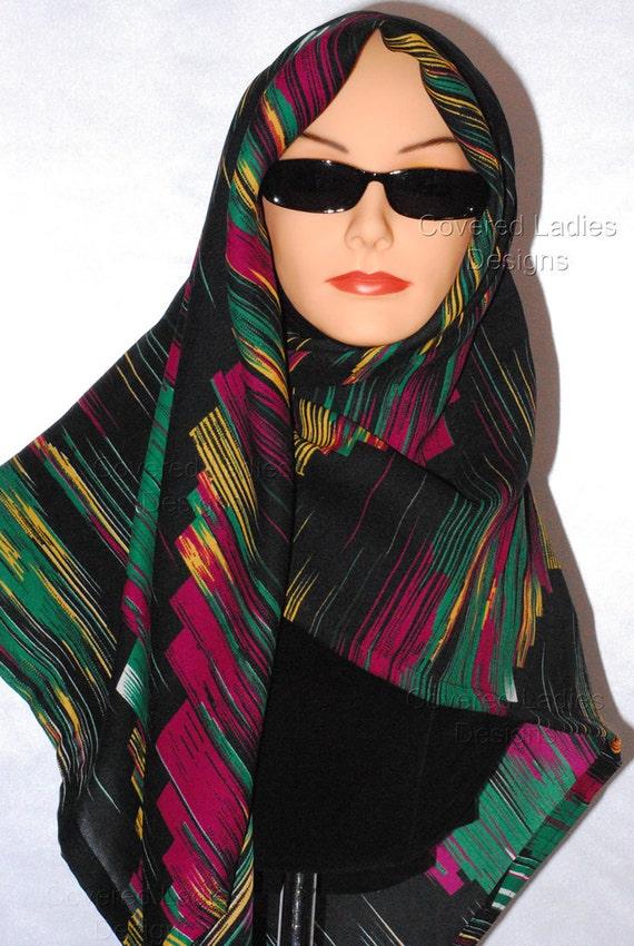 Handmade Geo Square Hijab Scarf