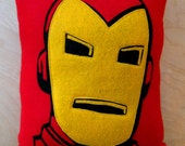 Iron Man Felt Pillow