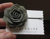 Custom order for Stefanie charcoal rose bobby pin