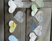 Are We There Yet - Recycled Map Garland