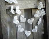 The Vintage Illustrated Dictionary- Paper Garland Hearts