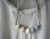 Delphine - Handmade Clay Bead Necklace
