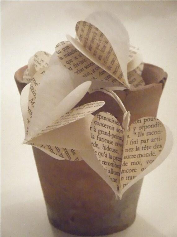 Vintage French Novel Paper Baubles
