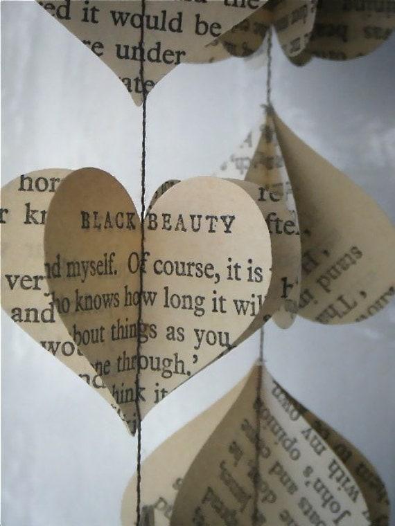 Heart Strings- Vintage Black Beauty 3D Paper Mobile