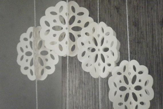 Angels Breath -3D  Doily Lace Paper Garland
