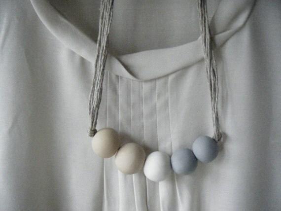 Delphine - Handmade Clay Bead Necklace
