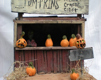 The haunted pumpkin stand The Haunted Construction co. avaolable now