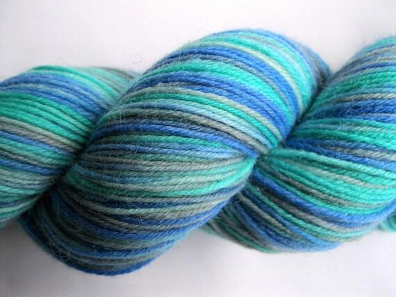 Ocean Drive - Hand Dyed Sock Yarn - 100g