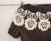 Owl Baby sweater PDF Pattern