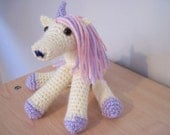 Reserved for HeidiBreeze - Toy Unicorn - Misty Rose