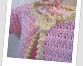 Baby Girl Sweater with Flower Applique 0-3mth
