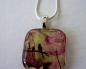 Art Pendant On Sale Content in Love Glass Pendant