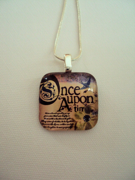 Once Upon A Time Pendant with Silver Snake Chain